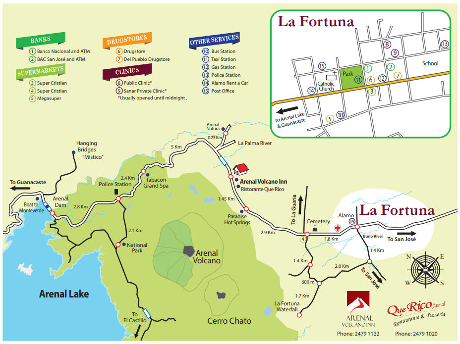 Map of la Fortuna
